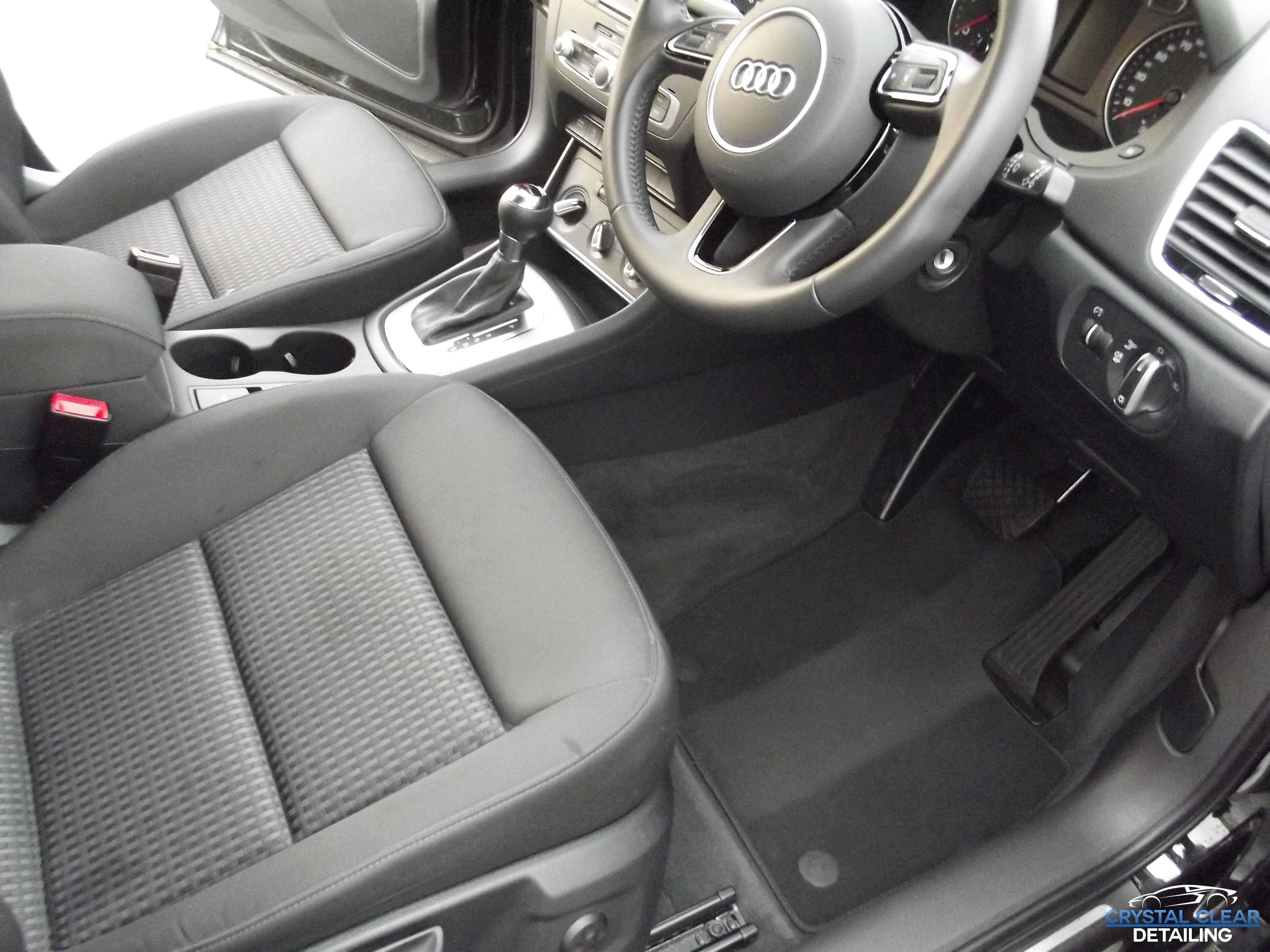 car detailing audi a6 interior detail